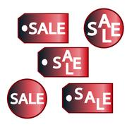 Colorful Sale labels set isolated on white. Stock Illustration