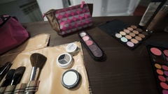 Cosmetics and toiletries. Stock Footage