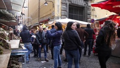 Naples, Christmas in San Gregorio Armeno Stock Footage