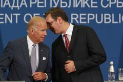 Serbia,Belgrade AUG 16th 2016-US Vice President Joe Biden Kuvituskuvat
