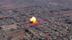 VBIED Car Bomb Explosion iraq Stock Footage