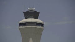 KCI Air Port Watch Tower Stock Footage