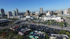 Downtown Long Beach California Skyscrapers Stock Footage