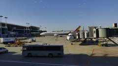 Time Lapse Of Incheon International Airport Seoul South Korea Stock Footage