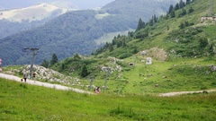 On the top of hill Monte Baldo, Italy Stock Footage