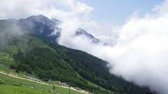 Cloud in mountains. Stock Footage