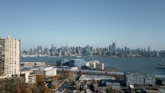 Hyperloop High Speed Train Manhattan Skyline 4K Stock Footage