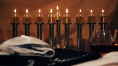 The Candles Of Hanukka Stock Footage