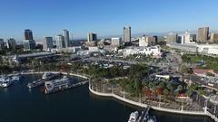 Long Beach Harbor Aerial Stock Footage