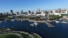 Skyline Aerial of Downtown Long Beach California United States of America Stock Footage