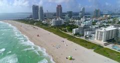 Aerial Miami Beach drone video 4k 60p Stock Footage
