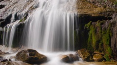 MoCo Timelapse Close Up Tracking Shot of Silky Waterfalls -Zoom Out- Stock Footage
