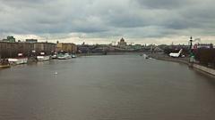 Bridge near Gorky Park Stock Footage