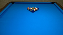Shot of Pool break - 4K Stock Footage
