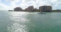 Luxury yacht Miami Beach 4k 60p Stock Footage