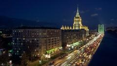 Traffic on Kutuzov Avenue Stock Footage