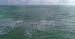 Atlantic Ocean flyover Miami Beach aerial Stock Footage