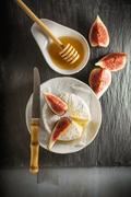 Brie with Figs Stock Photos