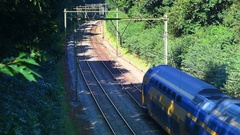 Commuter trains of the Dutch Railways Stock Footage