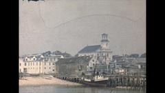 Vintage 16mm film, 1947 Massachusetts Cape Cod, town Arkistovideo