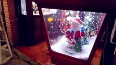 Santa Claus Christmas Snow Globe Stock Footage