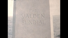 Vintage 16mm film, 1947 Massachusetts, yalden sundial Stock Footage