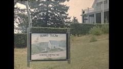 Vintage 16mm film, 1947 Massachusetts, signs rural b-roll Stock Footage