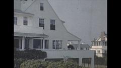 Vintage 16mm film, 1947 Massachusetts, cape cod homes on the ocean Arkistovideo