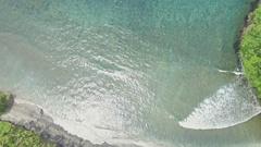 Paradise Bay Tropics Indonesia Aerial 4k Stock Footage