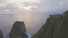 Hidden Paradise Beach Nusa Penida Indo Aerial 4k Stock Footage