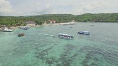 Paradise Harbour Bay Tropics Nusa Penida Bali Indonesia Aerial 4k Stock Footage