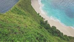 Hidden Paradise Beach Nusa Penida Indonesia Aerial 4k Stock Footage