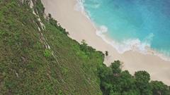 Beautiful Paradise Beach Rise Sunset Aerial 4k Stock Footage