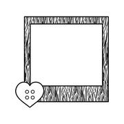 Cute frame decoration Stock Illustration