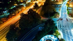Timelapse of Asheville, NC at night Stock Footage