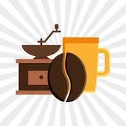 Coffee shop design Stock Illustration