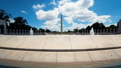 The National World War II Memorial in Washington DC Stock Footage