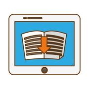 Book download related icons image Stock Illustration