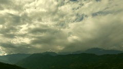 Beautiful time lapse stock footage of clouds passing over Himalayan mountains. Stock Footage