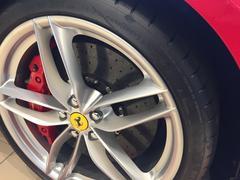Berlin, Germany - December 19, 2016: Ferrari car tyre Kuvituskuvat