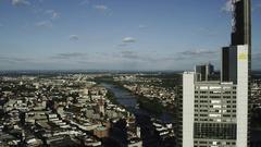 Frankfurt Commerzbank Tower Stock Footage