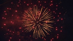 Fireworks in the night sky. The occasion. Stock Footage