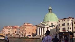 VENICE, ITALY - 14 Sept 2016: Famous Venetian Church - Chiesa San Simeon Piccolo Stock Footage