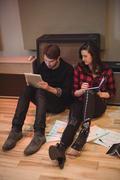 Couple composing a tune Stock Photos