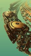 Abstract three-dimensional fractal Stock Illustration