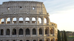 A stunning and detailed view of the Colosseum in Rome in the afternoon Stock Footage