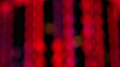 Colorful glowing city lights. Bokeh background. Macao Stock Footage