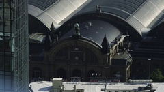 Frankfurt Hauptbahnhof Aerial Stock Footage