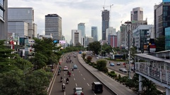 Traffic time lapse in Jakarta, Indonesia capital city Stock Footage
