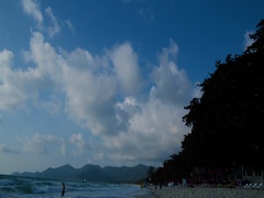 The sky over Pacific ocean. Daytime timelapse. Island and Exotic Beach Stock Footage